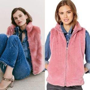 J. Crew Factory Faux Fur Vest